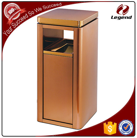 China factory Brassy recycle garbage can with ashtray