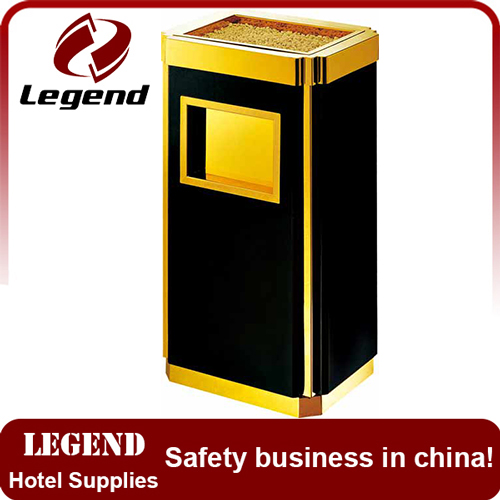Hotel lobby luxury square dustbin in China