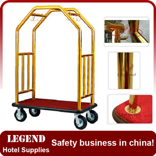 Luxury hotel trolley luggage for five star hotel