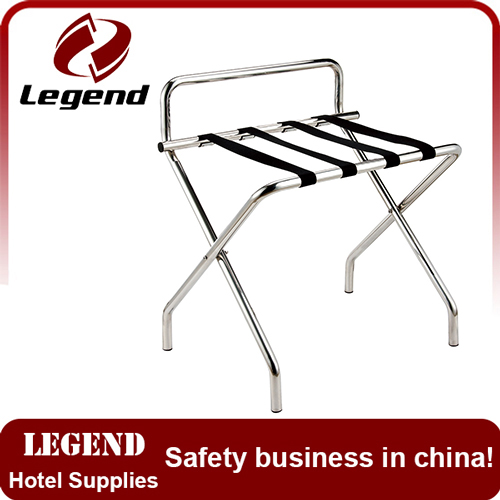 Modern bedroom stainless steel hotel luggage rack