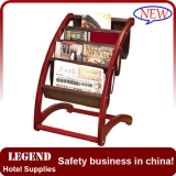 Modern design wooden newspaper rack with display